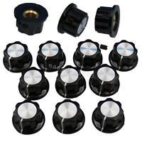 10Pcs Potentiometer Knob 16mm Top Rotary Control Turning Knob for Hole Dia 6mm