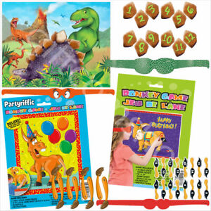 Pin The Tail on The Donkey Dinosaur Kids Childrens Birthday Party Games Activity