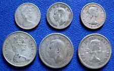 1940 -1967 GEORGE VI, ELISABETH II Canada 10, 25   CENT Silver  COINS