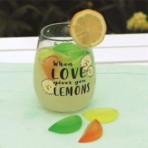Plastic Lemon Shaped Ice Cubes Multi Coloured Reusable Drink Cooler Party Blocks