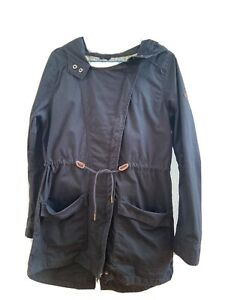 Roxy- Parka-Übergang-leichte Jacke M- dunkelblau- mit Kapuze