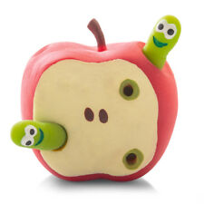 Tobar Stretchy Apple with Two Worms - Squishy Novelty Toy for Ages 5 and Up