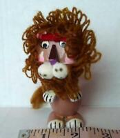 Cowardly Lion Wizard of Oz Christmas Ornament Wood Vintage
