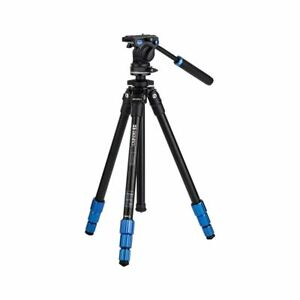 Benro TSL08AS2CSH Compact Slim Aluminium Video Tripod With S2H Fluid Video Head