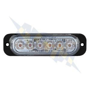 Durite 0-441-70 Amber Flashing Strobe High Intensity 6 LED Warning Light Lamp