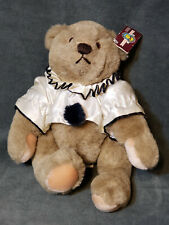 "1982 Gund Bialosky Bear Pierrot Clown 11"" Jointed Plush W/ Tags Vintage Stuffed"