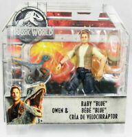 "Figurine JURASSIC WORLD Owen & Baby ""Blue"" NEUF ! (bébé blue)"