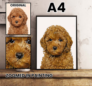 Custom Portrait Painting Picture from Photo Gift for Wife Husband Family kids