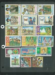 Scouts & Guides on stamps - colourful lot all scanned [1064]