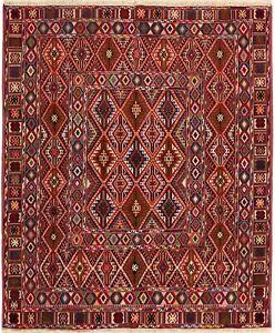 3763 # Fine Quality Oriental Mashwani Nakhunak Kilim 100% Pure Wool 178 x 145 cm