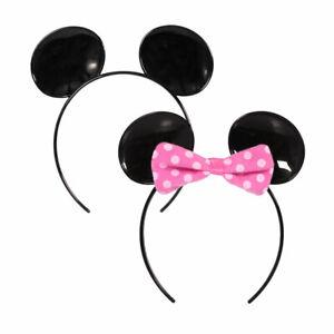 Hallmark Party Disney MICKEY & MINNIE MOUSE Ears Headband Boys, Girls Kids 3+