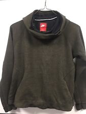 Nike Womens hoodie size large Fitted Lined Dark green Classic Logo Running