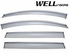 WellVisors Side Window Visors Wind Deflectors W/ Chrome Trim For 07-15 Audi Q7