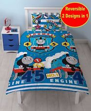 NEW THOMAS THE TANK ENGINE & FRIENDS SINGLE DUVET QUILT COVER SET BOY BLUE BED