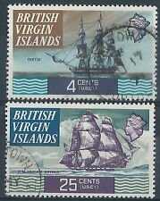 K108a) Br. Virgin Islands.1970/74. Used. SG 244,251. Ships.