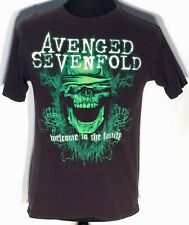 Avenged Sevenfold A7X Welcome to the Family 2001 Tour Skull Medium Black T-shirt