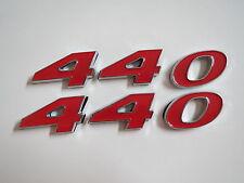 DODGE PLYMOUTH 440 ENGINE ID FENDER HOOD SCOOP QUARTER TRUNK EMBLEMS - RED