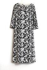 Women's NWT Liz Claiborne Black and White Floral Print Dress Size 2X