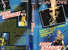 DAVID BOWIE - ZIGGY STARDUST -VHS -PAL -NEW -Never played! - Original Oz release