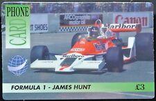 INTERNATIONAL PHONE CARD - Formula 1 - James Hunt £3 - New & Unused