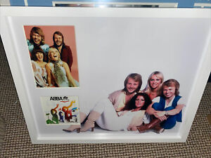 ABBA hand Signed Montage By The Full Group