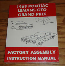 1969 Pontiac LeMans GTO Grand Prix Factory Assembly Instruction Manual 69