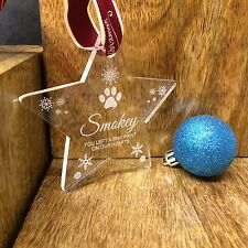 PERSONALISED  PET MEMORIAL BAUBLE CHRISTMAS TREE DECORATION