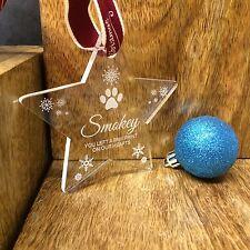 Personalizado Mascota Memorial Adorno Árbol de Navidad Decoración