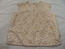 Vintage Beaded Cream Blouse Top