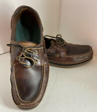 Sperry Top-Sider Men's Shoes Size 9.5M Mako Collection Brown Leather Boat Casual