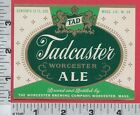C390 Tad Tadcaster Ale beer bottle label Worcester Brewing Co Worcester MA