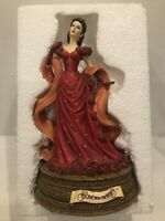 San Francisco Music Box Company Gone With The Wind Scarlett Red Dress