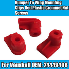10x Opel Clips For Vauxhall Bumper To Wing Mounting Plastic Grommet Nut Screws