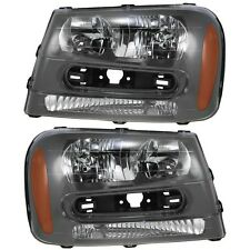 2002 2003 2004 2005 CHEVROLET TRAILBLAZER HEAD LIGHT LAMP PAIR RIGHT & LEFT SET