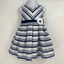 Jona Michelle Size 3T Navy & White Striped Dress