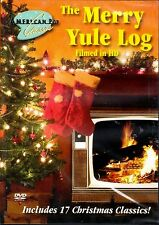 THE MERRY YULE LOG: VIRTUAL HD CHRISTMAS HOLIDAY FIREPLACE DVD w/ SOUNDS & MUSIC