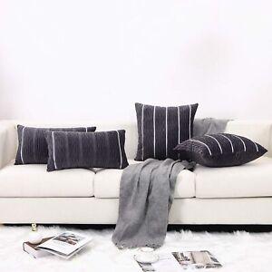 SUNBEAUTY Modern Soft Velvet Bolster Cushion Covers Pack of 2 Decorative Texture