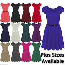 Unbranded Scoop Neck Cap Sleeve Short/Mini Dresses