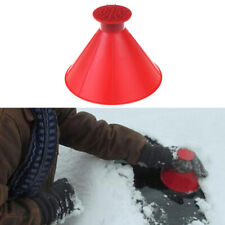 Car Windshield Ice Scraper Tool Red Cone Shaped Round Funnel Remove Snow KitPYLU