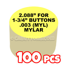 "1-3/4"" Tecre Mylars Clear Plastic Cover for Button Maker Machine Pres