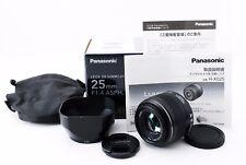 【Top Mint】Panasonic LEICA DG Summilux 25mm F1.4 ASPH Lens Many Accessory 221538