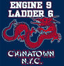 New York City Chinatown Engine 9 Ladder 6 Dragon Fighters Fire Tee