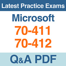 Microsoft Practice Tests 70-411 & 70-412 MCSA Certification Exams Q&A PDF