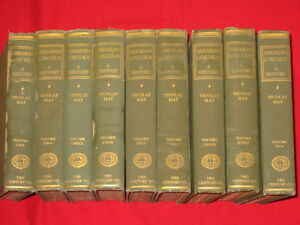 1905 SET / ABRAHAM LINCOLN - A HISTORY / NICOLAY AND HAY / ILLUSTRATED, MAPS