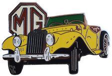 MG TF car cut out lapel pin - Yellow body