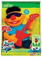 Sesame Street Let'S Rock 'Strummin' Ernie' 10 Inch ' Plush Soft Toy Brand New
