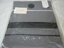 New Palace Grey/Black Dots Fabric Cotton Shower Curtain 7x72  NIP