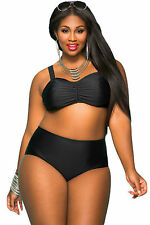 Costume Da Bagno Vita Alta Bikini Taglie forti Curvy Formosa Plus Size XXXXXL