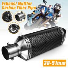 38-51mm Universal Motorcycle Exhaust Muffler Pipe Silencer ATV Quad Dirt