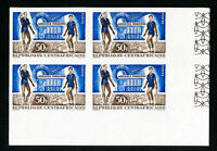 Central African Republic Stamps # 27 XF OG NH Imperforate Block of 4